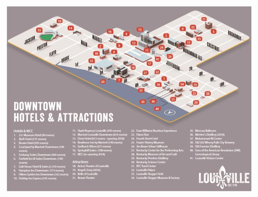 Map of Louisville KY GoToLouisvillecom Official Travel Source