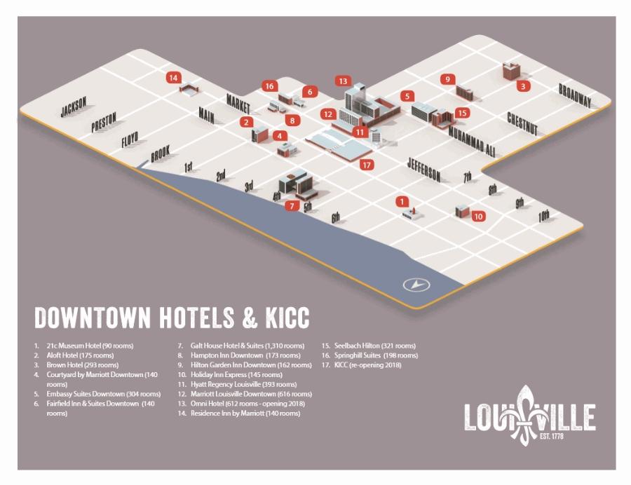 Map of Louisville KY : GoToLouisville.com Official Travel Source